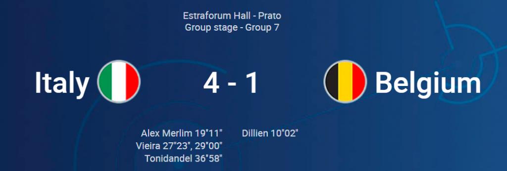 Italia voittoon Belgiasta - Suomi nousi lohkon toiseksi